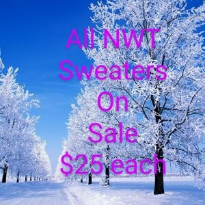 Sweaters - All NWT Sweaters $25 each